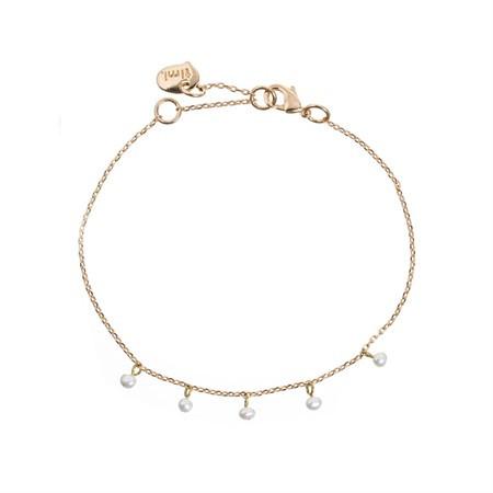 Armband Kleine Perlen Weiß von Timi