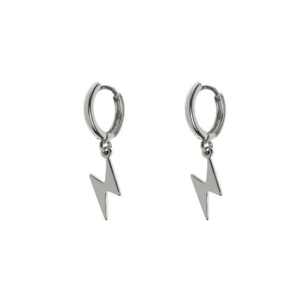 Ohrringe Lightning Small Hoop Silber von Timi