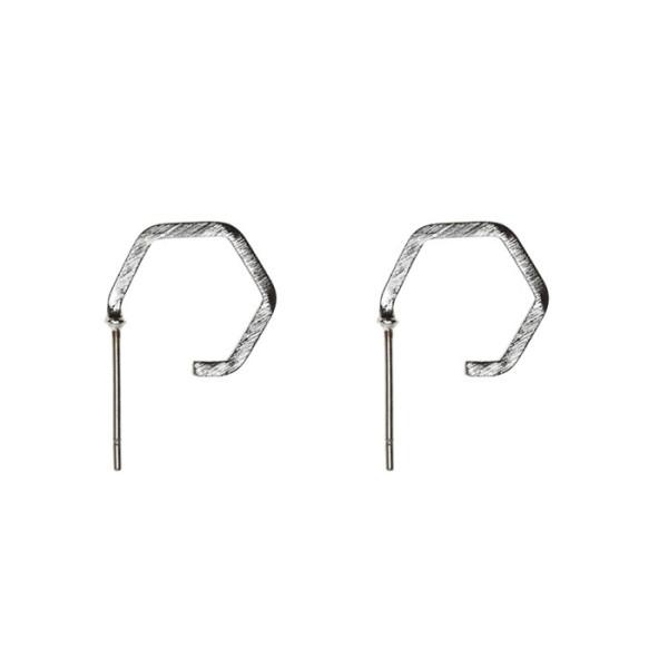 Ohrringe Polygon Silber von Timi