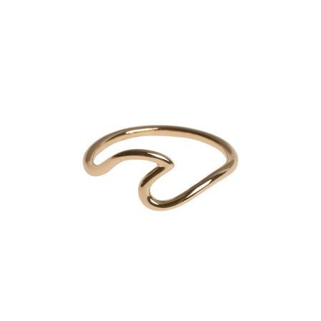 Ring Wave vergoldet von Timi